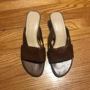 Naturalizer brown woven heeled sandals